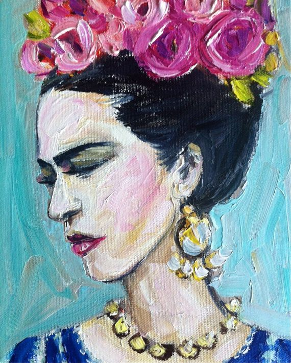 Frida Kahlo Oil Painting canvas by DevinePaintings on Etsy