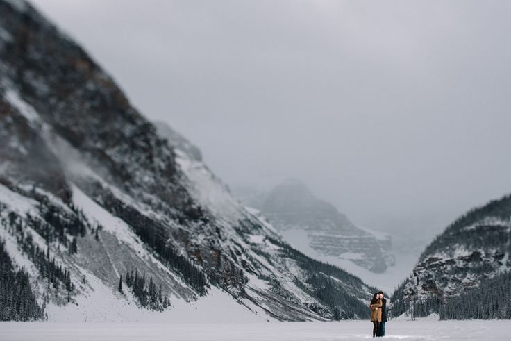 Lake Louise engagement photography by Abby Plus Dave