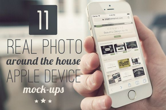 Check out 11 Around the house Apple Mock-ups by ZedProMedia on Creative Market