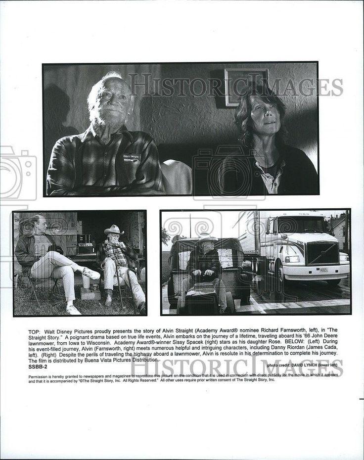 "1999 Press Photo "" The Straight Story"" Richard FarnsworthSissy Spacek. Garcia"""