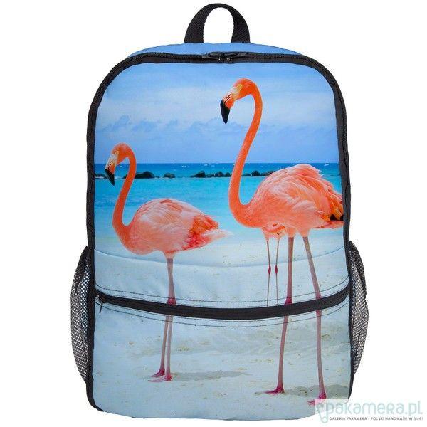 torebki różne - unisex-Flamingos bagpack