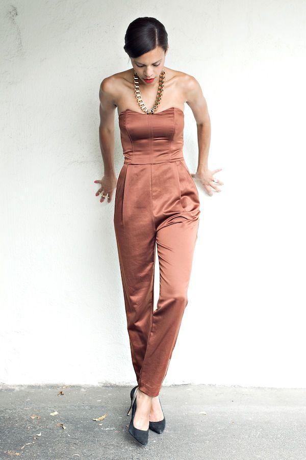style me bridal – bachelorette weekend - rachel roy jumpsuit, express necklace & calvin klein shoes