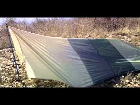 Homemade Nylon Backpacking Tarp - YouTube