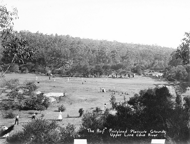 """""""The Rest"""" at Fairyland Pleasure Grounds, Lane Cove National Park (NSW)"""