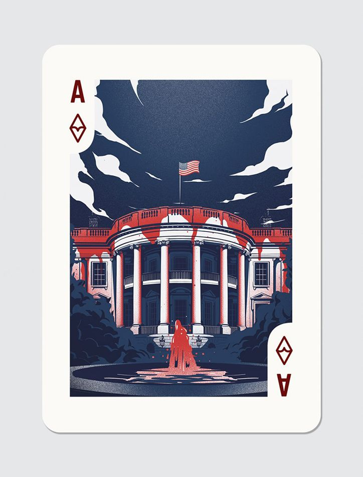 Ace of Diamonds, House of Cards card deck illustration by Eric Chow. Represented by i2i Art Inc. #i2iart