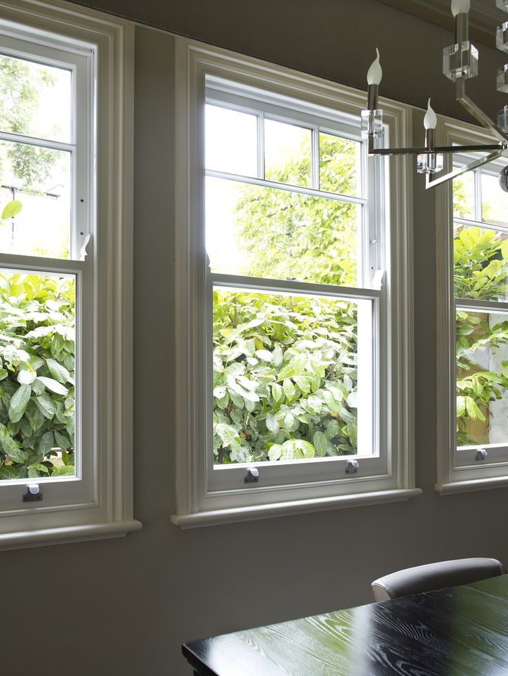 Replacement triple aspect sash window bay - Edwardian Apartment, North London. The Sash Window Workshop.