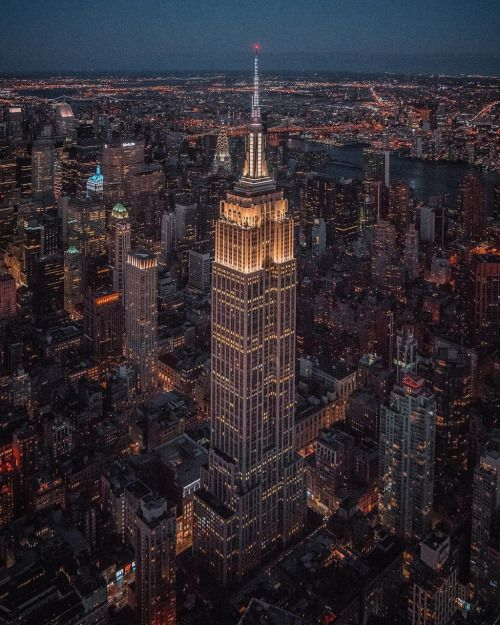 Empire State Building at night -