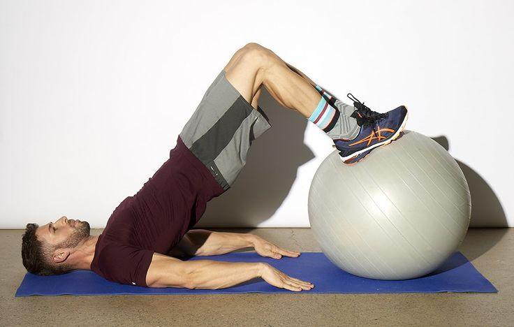 To really give your hamstrings a good workout, step away from the machines at the gym and get on the stability ball!