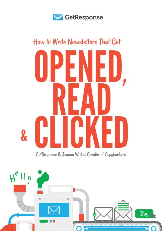 Free ebook - How to write newsletters that get opened, read and clicked. #EmailMarketing