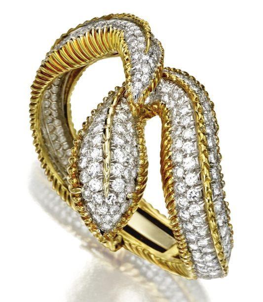 18 karat gold and diamond snake tiffany u0026 co