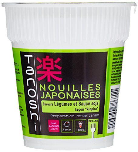Tanoshi Cup Nouilles Légumes Kinpira 65 g: Les nouilles instantanées Sans glutamate ajoute 1 Personne Cet article Tanoshi Cup Nouilles…