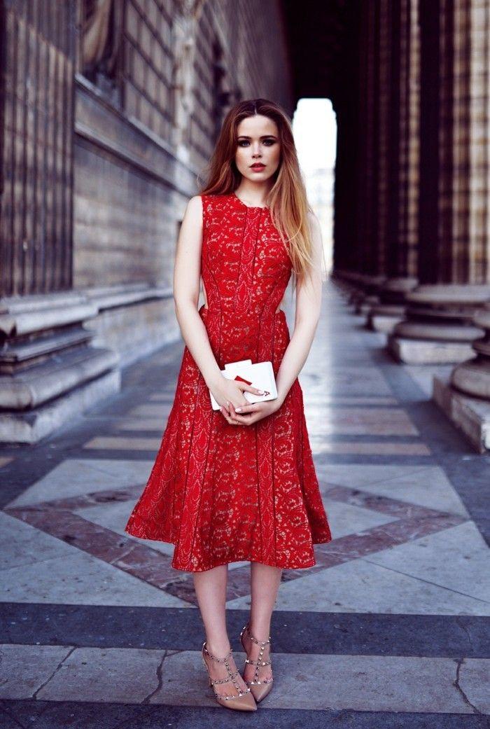 Welche schuhe fur rotes kleid