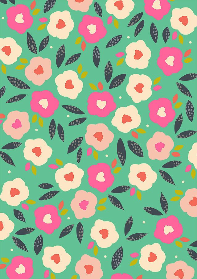 modern floral print | Susan Driscoll surface pattern design