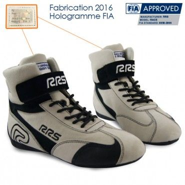 Bottines Pilote RRS FIA blanches