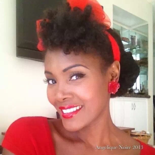 Cool 1000 Images About Vintage Natural Hair Hair For Black Pinups On Hairstyles For Women Draintrainus