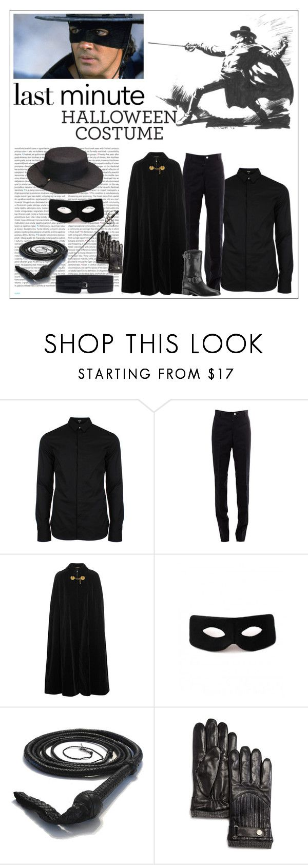 """Zorro Costume"" by larinhacarter ❤ liked on Polyvore featuring Versus, Thom Browne, Oris, Yves Saint Laurent, Chanel, Polo Ralph Lauren, men's fashion and menswear"