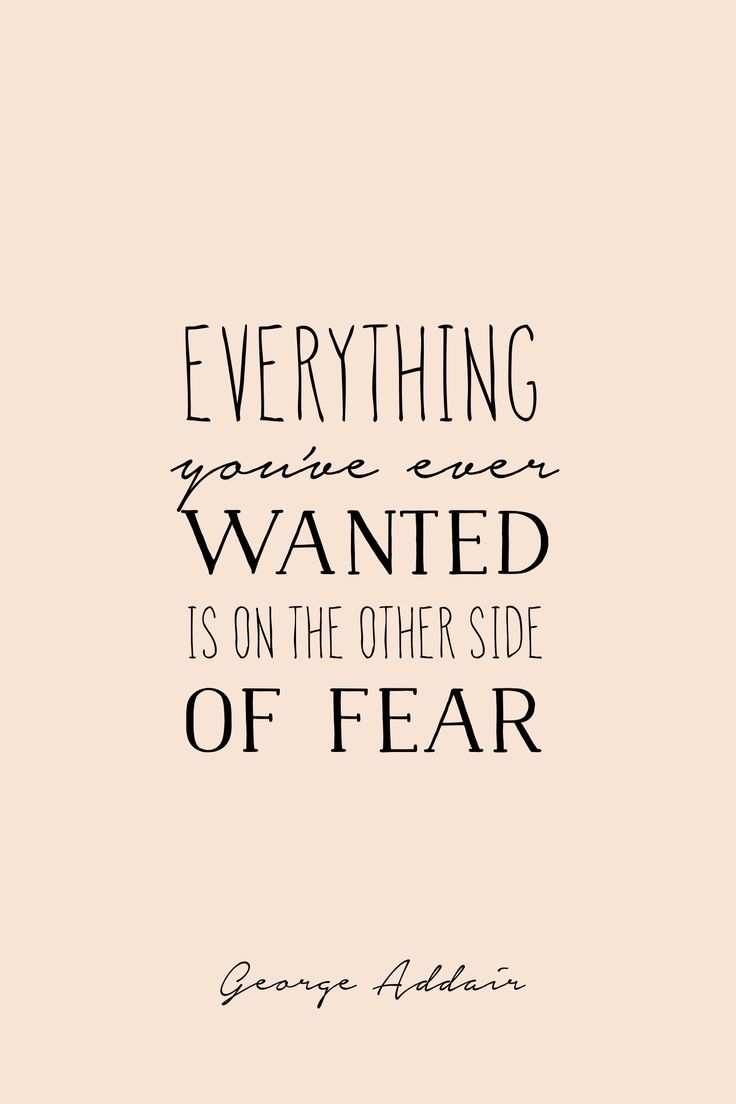 """""""Everything you've ever wanted is on the other side of fear."""" - George Addair #madewithover Download and edit your own quotes in Over today."""