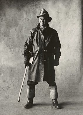 Fireman New York IRVING PENN photography 'Small Trades' 1950 (please follow minkshmink on pinterest)