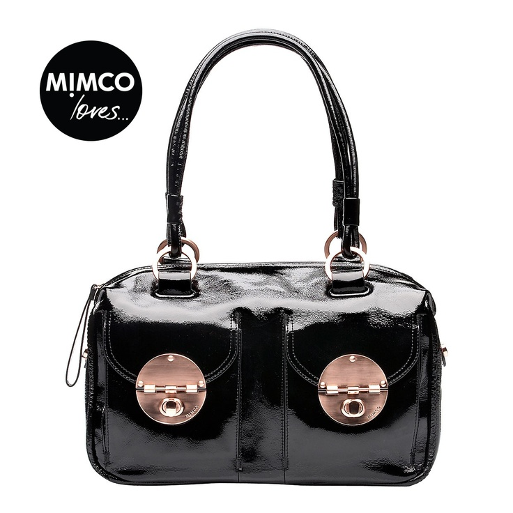 Love! patent turnlock zip top #mimco