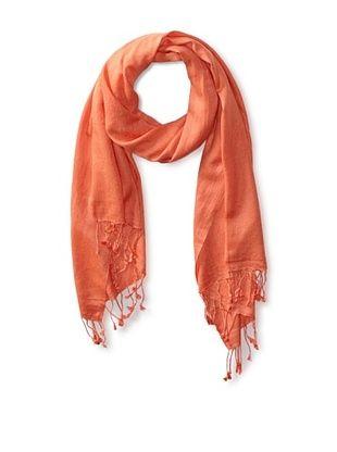 66% OFF Saachi Women's Cashmere/Silk Blend Scarf, Tangerine