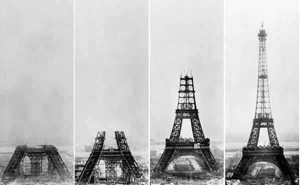 Paris. Torre Eifel y su evolución.: Tours Eiffel, Building, Eiffel Towers, Under Construction, Paris France, Travel, Architecture, Place, Photo
