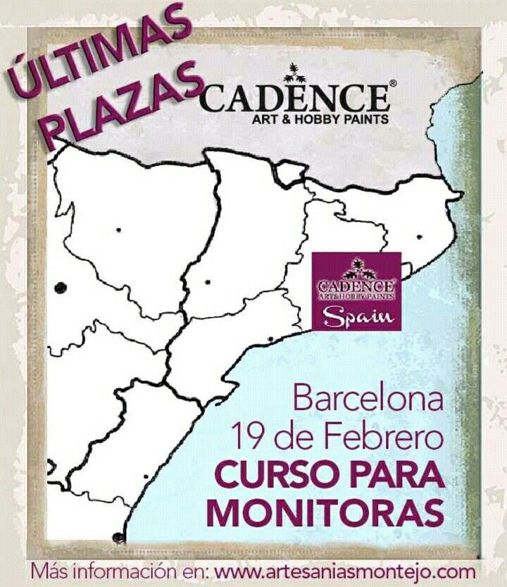 Últimas plazas para el curso Cadence de BARCELONA!! Más info en www.artesaniasmontejo.com