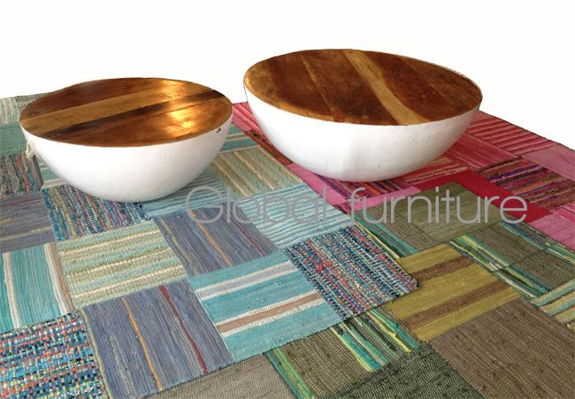 Bowl salontafel set van 2 metaal/wit Gezien bij NOS studio Brasil