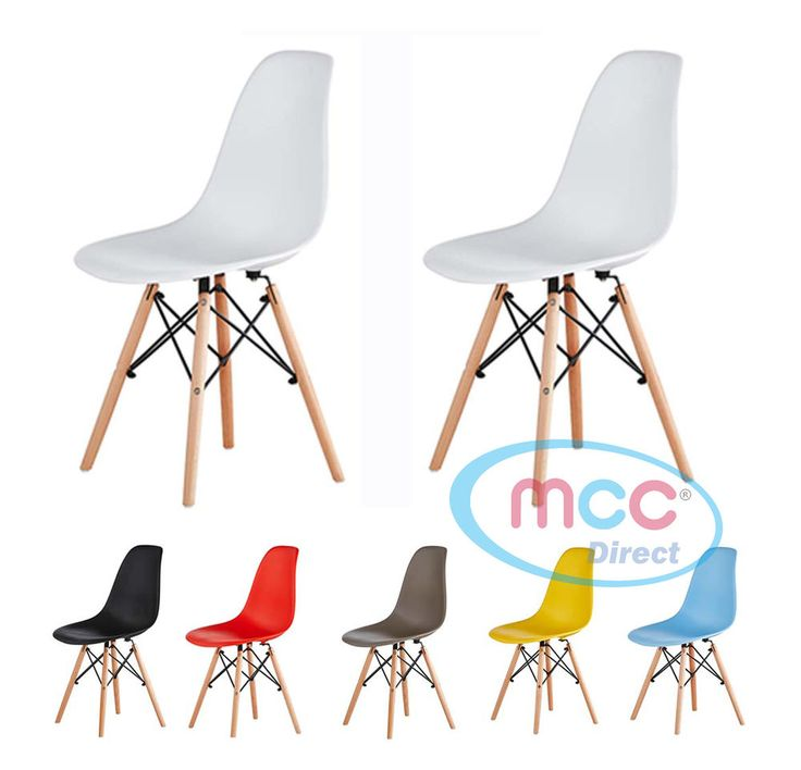 Eames Inspired Plastic Dining Chairs &Table Eiffel Retro Lounge Office Chair LIA  | eBay