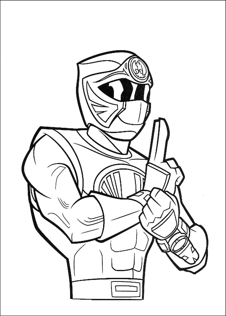 pirate power rangers coloring pages - photo#4