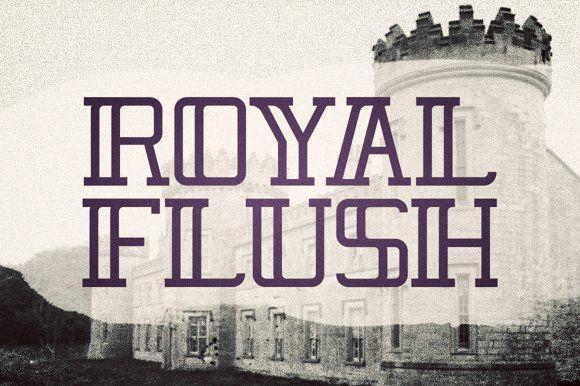 Royal Flush Typeface by Jordan Burgen Design on @creativemarket