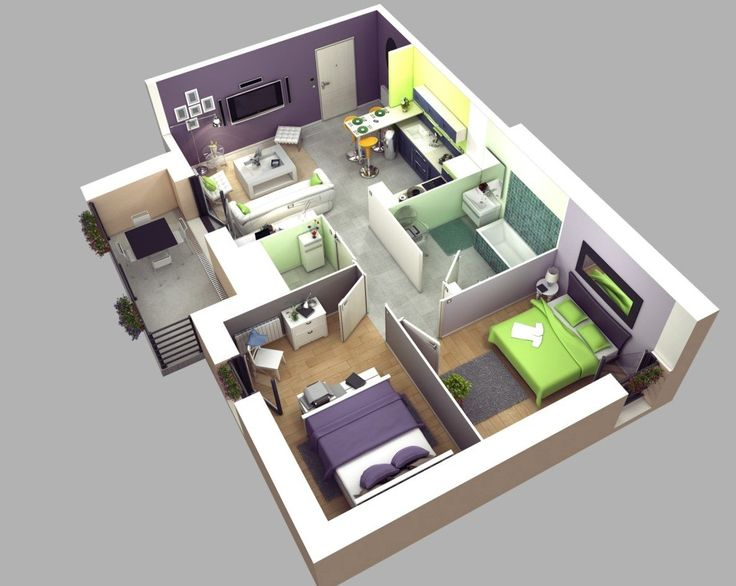 Bedroom Home Design Httpsbedroomdesigninfodesigns - Simple 2 bedroom house design