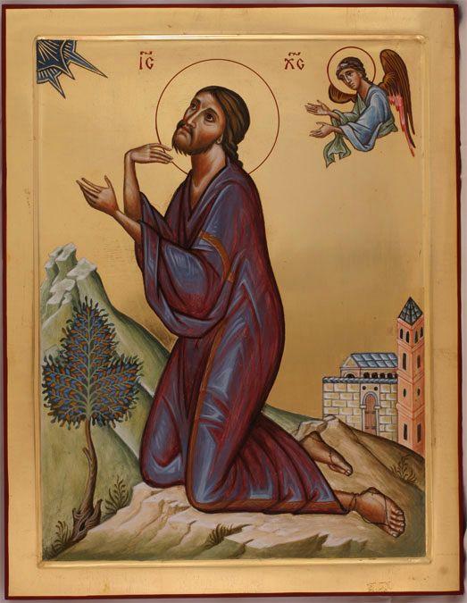 Christ in Gethsemane - Aidan Hart Sacred Icons