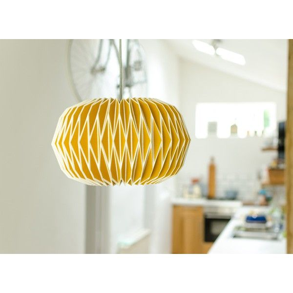 Alena Paper Lampshade - English Mustard - Wild Wood Yellow Lamp