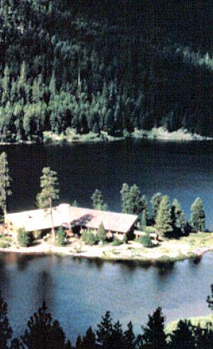 The Montana Island Lodge at Seeley Lake, Montana   glaciermt.com