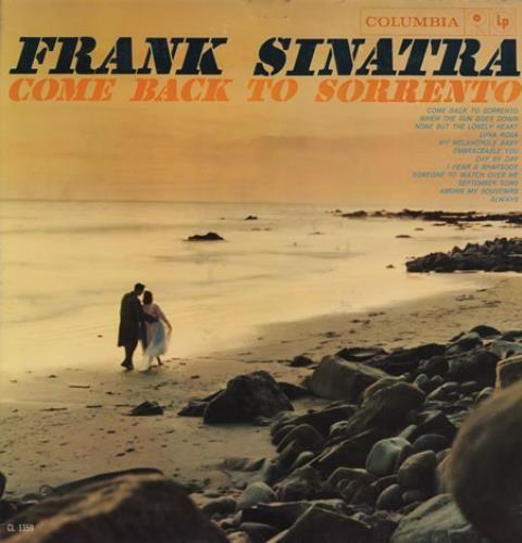 Frank Sinatra, Come Back To Sorrento, US, Deleted, vinyl LP album (LP record), Columbia, CL1359, 390127