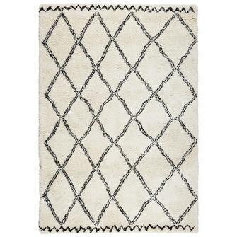 Vloerkleed Varamin Zwart/wit 160x230 cm   Vloerkleden   Woonaccessoires   Meubelen   KARWEI