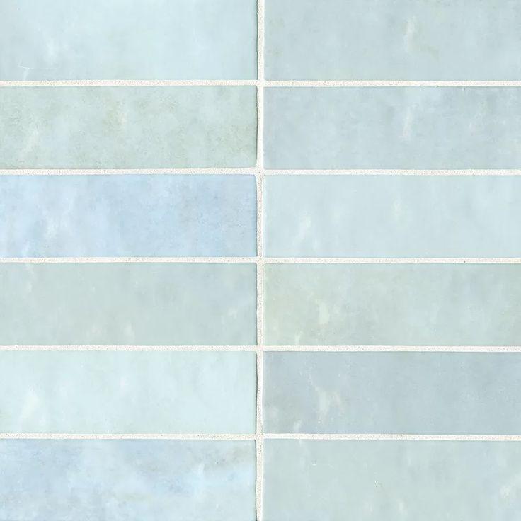 Cloe 2.5″ x 8″ Ceramic Subway Tile in Baby Blue