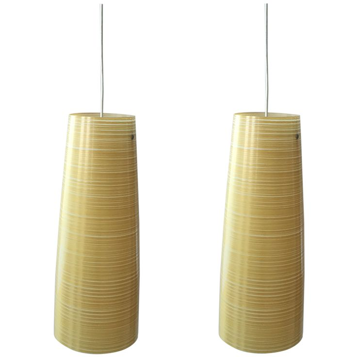 Tite Pendant Lights In Yellow Kevlar