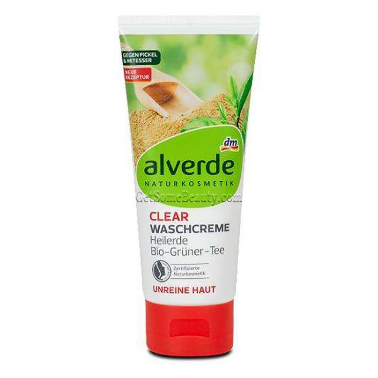 ALVERDE Natural Cosmetics Cleansing Cream Healing Clay & Organic Green Tea 100 ml | Get Some Beauty