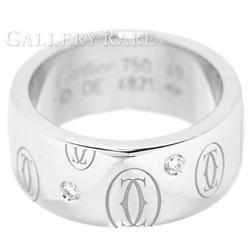 カルティエ リング ハッピーバースデー 5Pダイヤ ダイヤモンド K18WGホワイトゴールド リングサイズ49 B4070200 B4070249 Cartier 指輪 ジュエリー ダイアモンド