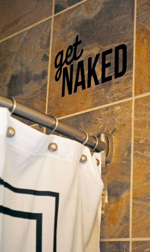 Shower / Bathroom Wall Decal. Could DIY with contact paper and an exacto.