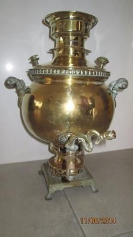 Vintage Russian Brass Samovar size: Diameter 220 x 440 H  in good condition   @R7500   Call 0767064700