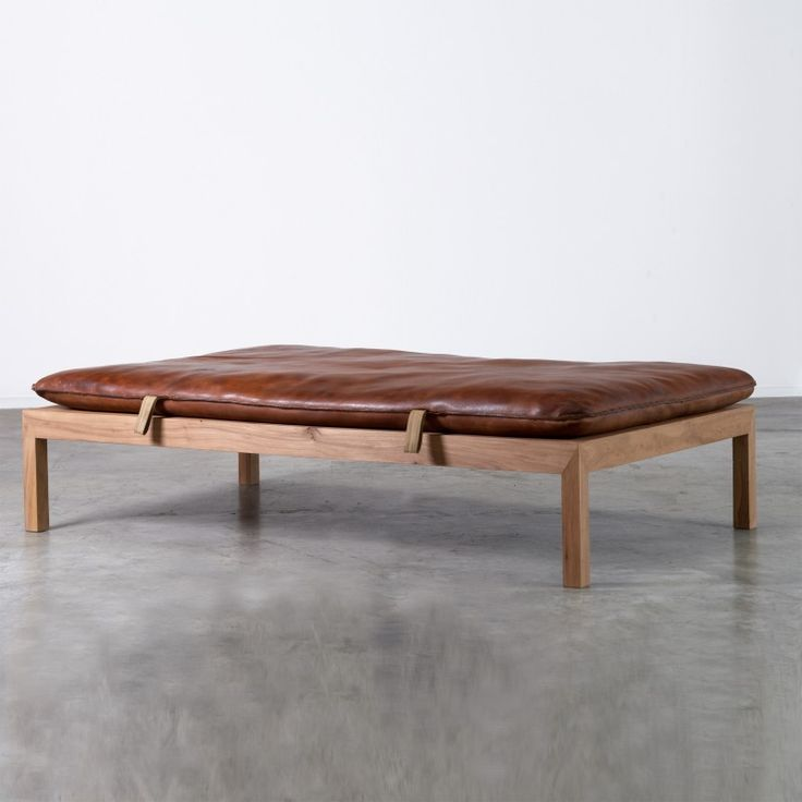 vintage gym mat bench. completely masculine and strong design. Leather daybed by Inside & Outside | Inside and Outside