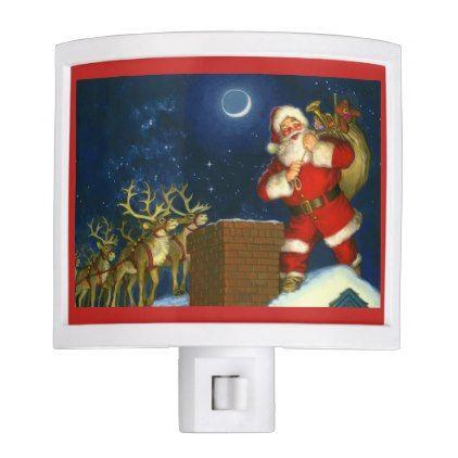 Christmas Nightlight Santa Claus Night Lite - kids kid child gift idea diy personalize design