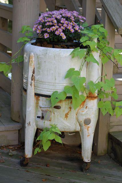 Old Washing Machine flower container