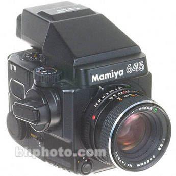 Mamiya 645 Super Medium Format SLR Manual Focus Camera with 80mm f/2.8 Lens, 6x4.5 (120) Film Back and Standard (Non-Metered) Prism Finder