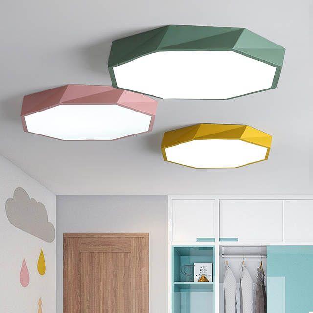 Macaron farbe Decke LED kronleuchter Runde
