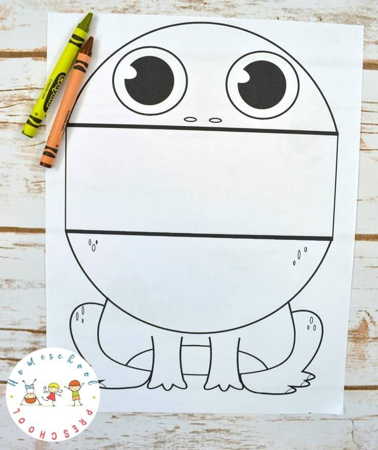 Surprise Big Mouth Frog Printable Coloring Page For Kids Big Mouth Frog Coloring Pages Frog Activities