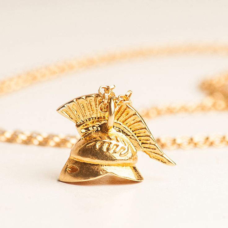 The Helmet Pendant..Inspiration the Ancient Greek Soldier's Helmet
