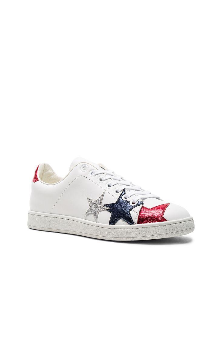 Hilfiger Collection Stars Classic Sneaker in Snow White & Multi | REVOLVE